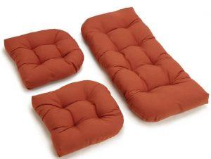 Blazing Needles Twill Settee Group Cushions